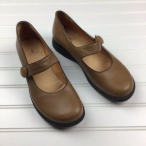 Vintage Murtosa Mary Jane Tan Leather Shoes